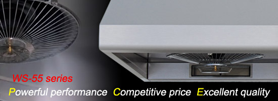 Under cabinet range hood WS-55 Series.